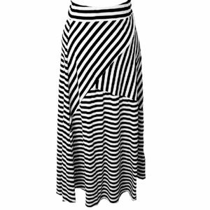 Razzle Dazzle Striped Print Maxi Skirt Brat Star